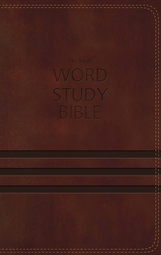 NKJV Word Study Bible-Brown LeatherSoft Indexed | SHOPtheWORD