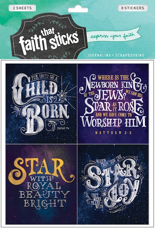Sticker-Christmas Greetings (2 Sheets) (Faith That Sticks) | SHOPtheWORD