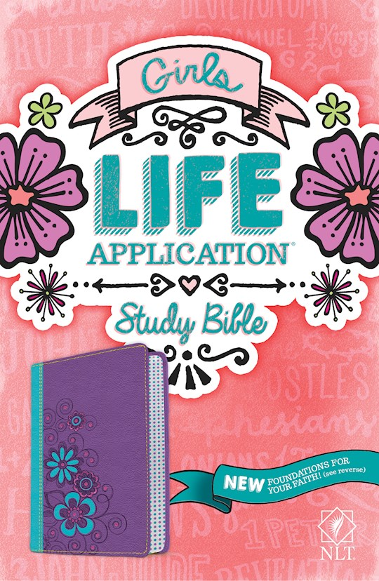 NLT Girls Life Application Study Bible (Revamped)-Green/Purple TuTone | SHOPtheWORD