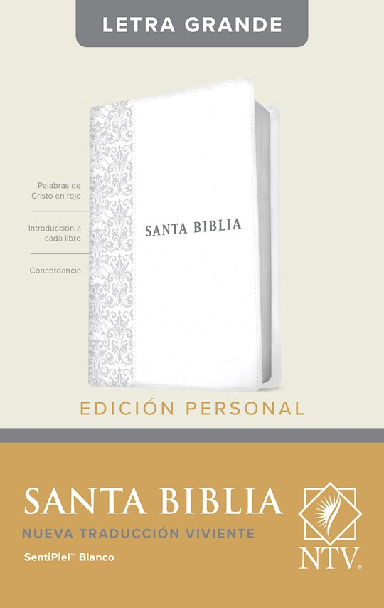 Span-NTV Personal Size Large Print Bible (Edicion Personal Letra Grande)-White LeatherLike Indexed | SHOPtheWORD