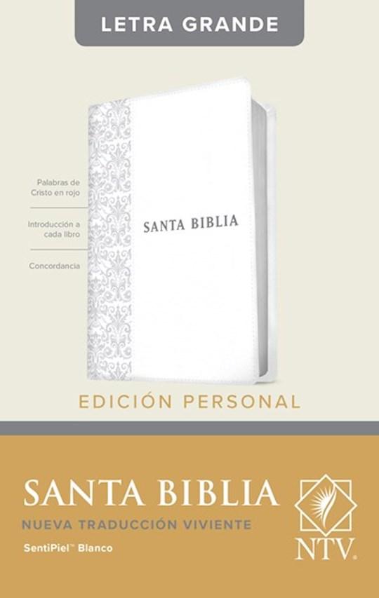 Span-NTV Personal Size Large Print Bible (Edicion Personal Letra Grande)-White LeatherLike  | SHOPtheWORD