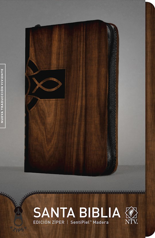 Span-NTV Bible (Santa Biblia Edicion Ziper)-Wood Color LeatherLike W/Zipper | SHOPtheWORD
