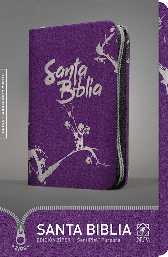Span-NTV Bible (Santa Biblia Edicion Ziper)-Purple LeatherLike w/Zipper | SHOPtheWORD
