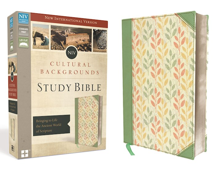NIV Cultural Backgrounds Study Bible-Sage/Leaves Duo-Tone (Not Available-Out Of Print)   SHOPtheWORD
