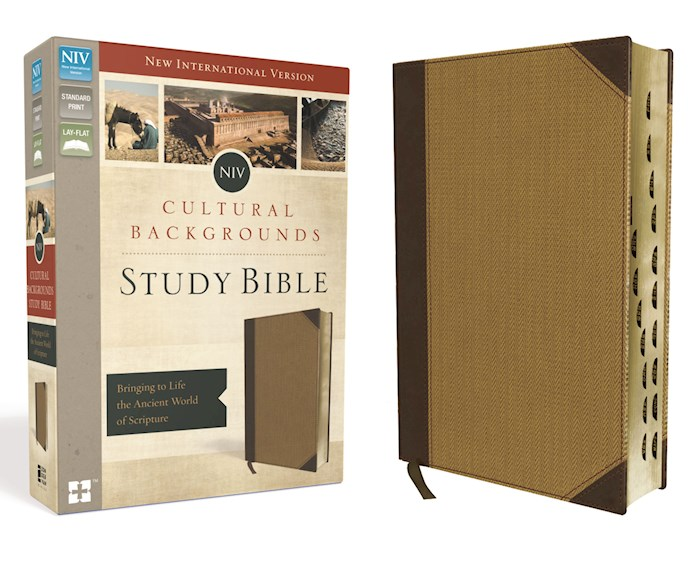 NIV Cultural Backgrounds Study Bible-Brown/Tan Duo-Tone Indexed (Not Available-Out Of Print) | SHOPtheWORD