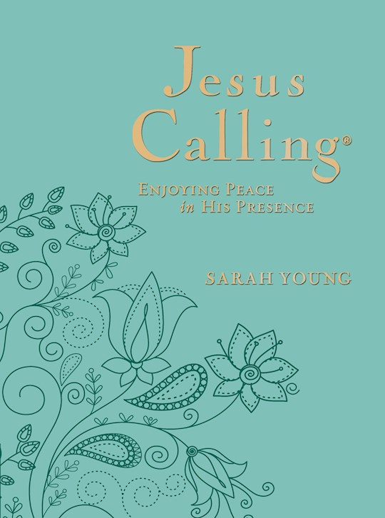Jesus Calling (Deluxe Edition)-Large Print-Teal LeatherSoft by Sarah Young | SHOPtheWORD