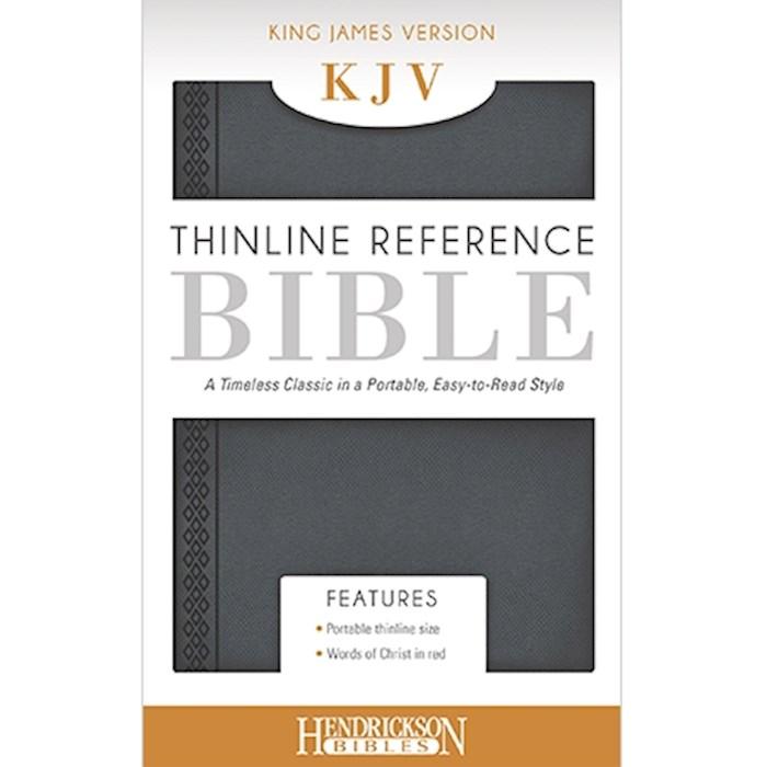KJV Thinline Reference Bible-Steel Gray Flexisoft | SHOPtheWORD