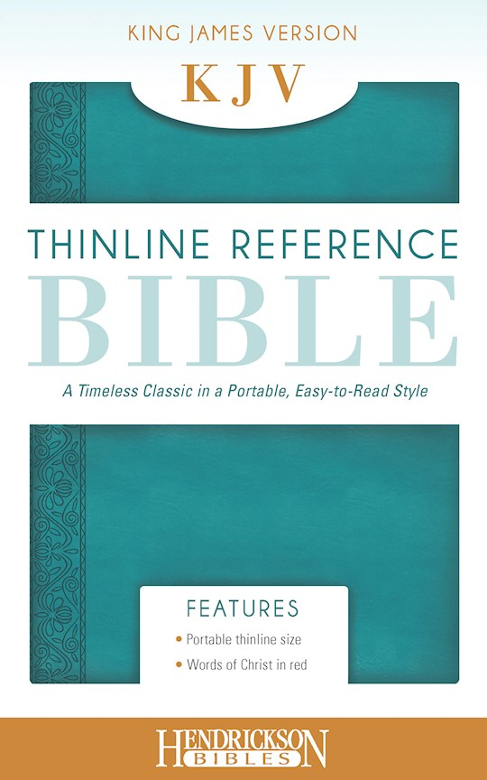 KJV Thinline Reference Bible-Aquamarine Flexisoft | SHOPtheWORD