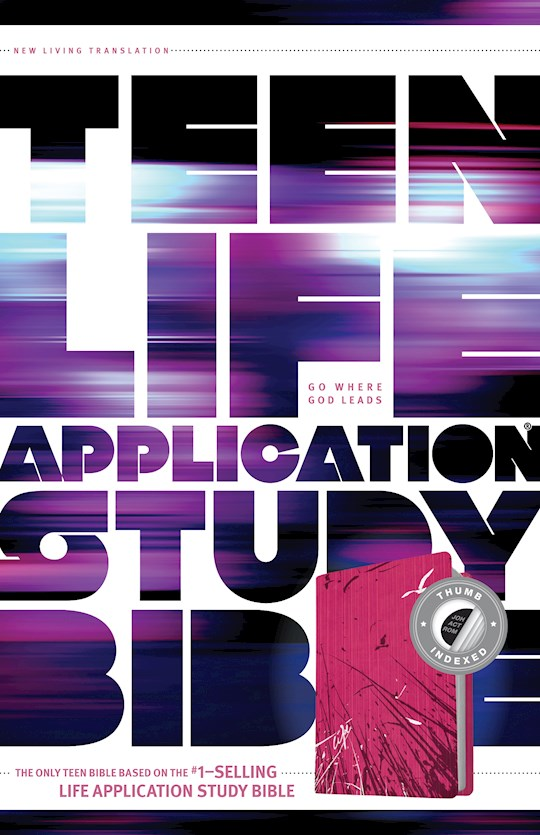 NLT Teen Life Application Study Bible-Pink Fields LeatherLike Indexed | SHOPtheWORD
