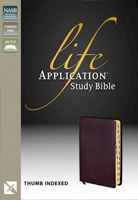NASB Life Application Study Bible-Burgundy Bonded Leather Indexed | SHOPtheWORD