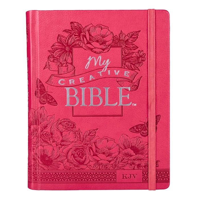 KJV My Creative Bible-Pink LuxLeather Hardcover   SHOPtheWORD