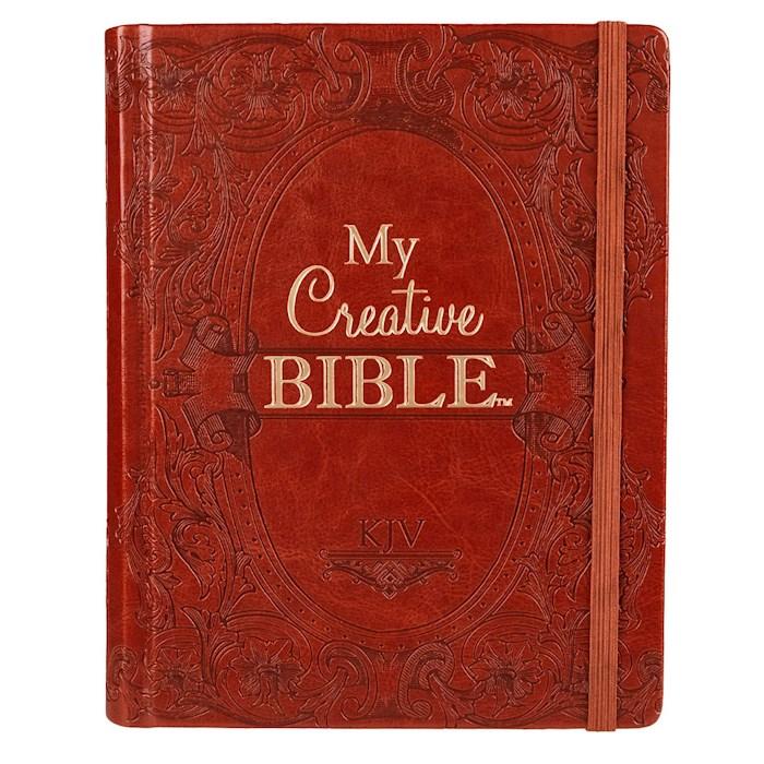 KJV My Creative Bible-Brown LuxLeather Hardcover    SHOPtheWORD