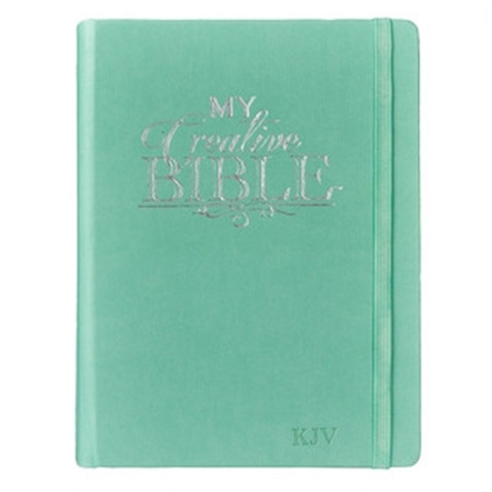 KJV My Creative Bible-Teal LuxLeather Hardcover | SHOPtheWORD