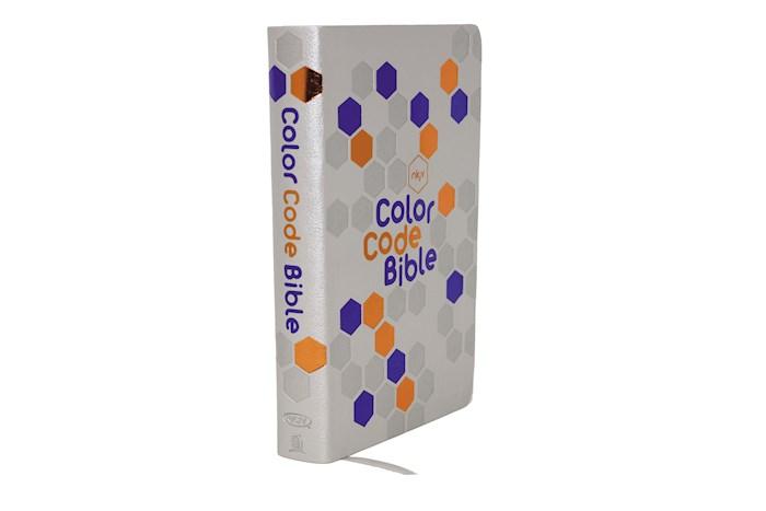 NKJV Color Code Bible-Silver/Blue Leathersoft | SHOPtheWORD
