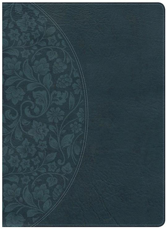 NKJV Holman Study Bible/Large Print (Full Color)-Dark Teal LeatherTouch   SHOPtheWORD