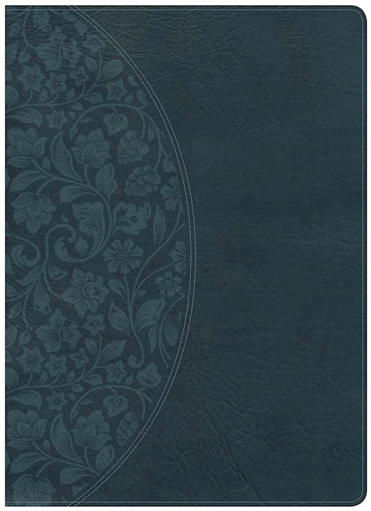 NKJV Holman Study Bible/Large Print (Full Color)-Dark Teal LeatherTouch Indexed | SHOPtheWORD