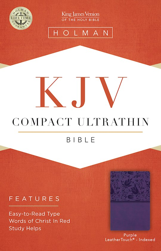 KJV Compact Ultrathin Reference Bible-Purple LeatherTouch Indexed | SHOPtheWORD