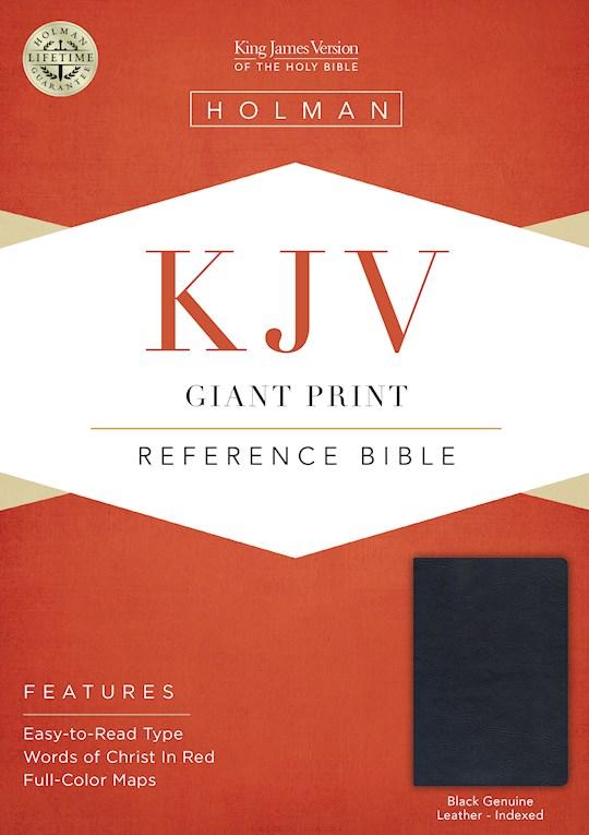 KJV Giant Print Reference Bible-Black Genuine Leather Indexed | SHOPtheWORD