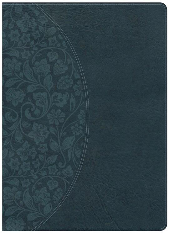 KJV Holman Study Bible/Large Print (Full Color)-Dark Teal LeatherTouch Indexed | SHOPtheWORD