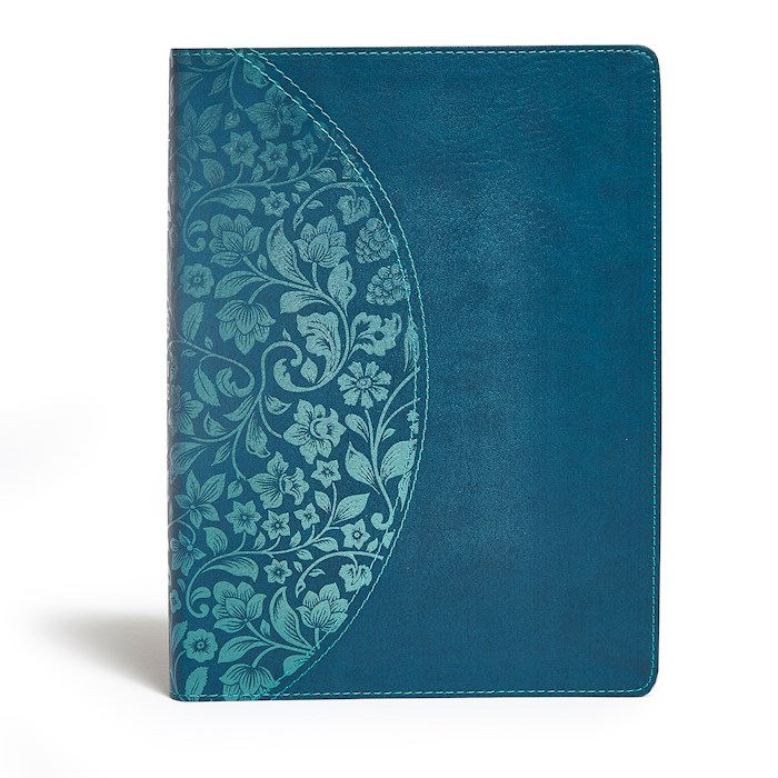 KJV Holman Study Bible/Large Print (Full Color)-Dark Teal LeatherTouch | SHOPtheWORD