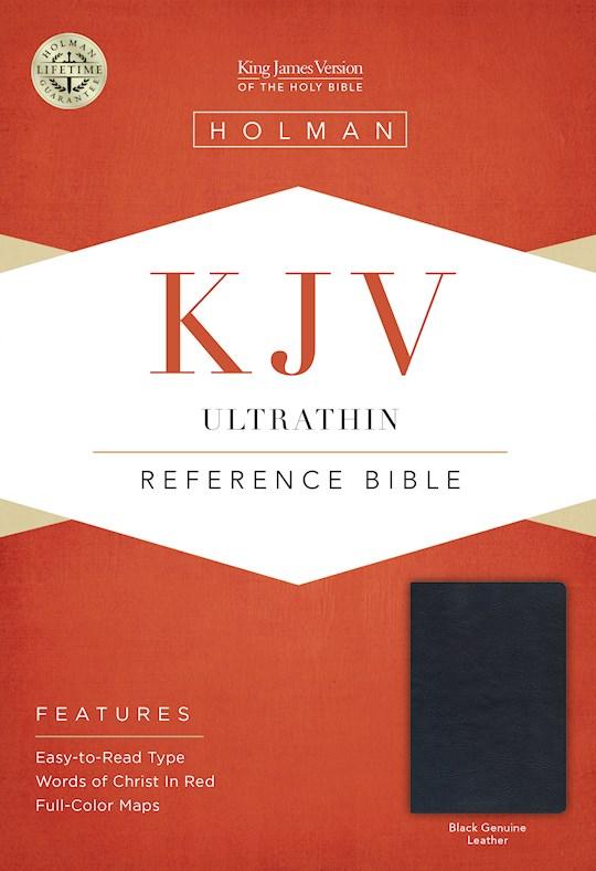 KJV Ultrathin Reference Bible-Black Genuine Leather | SHOPtheWORD