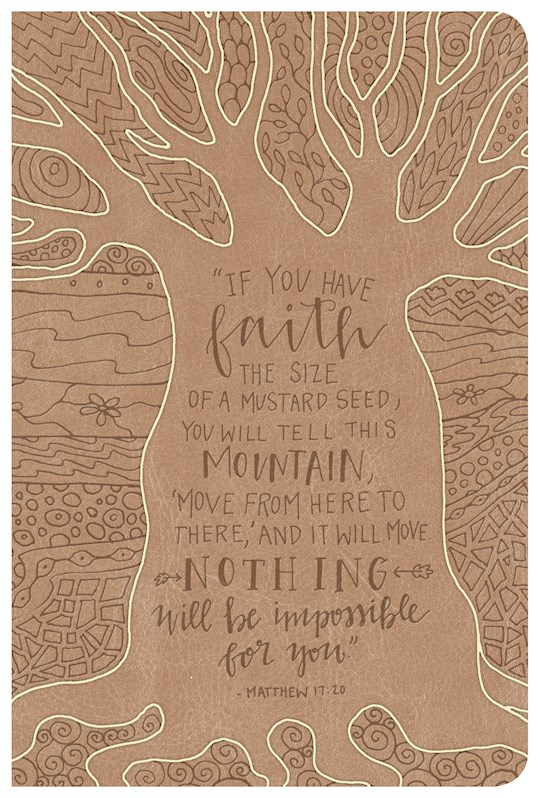 NKJV Large Print Personal Size Reference Bible-Natural Faith LeatherTouch | SHOPtheWORD