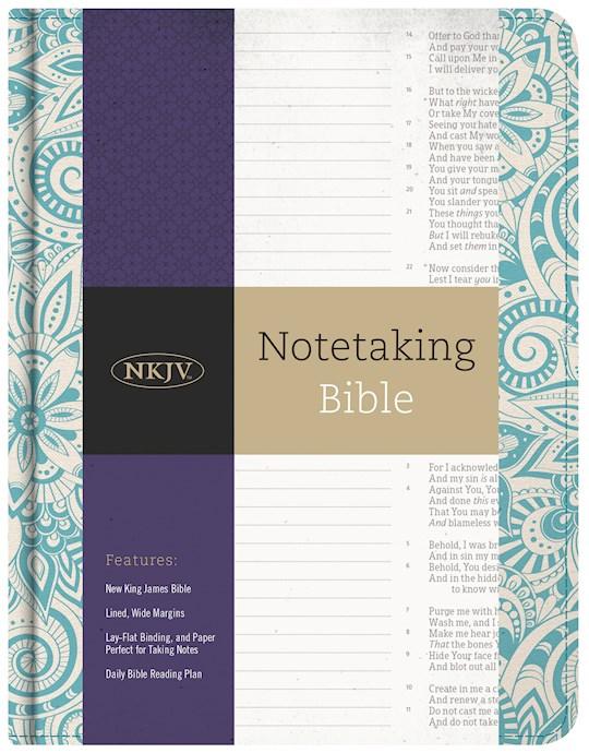 NKJV Notetaking Bible-Blue Floral/Fabric   SHOPtheWORD