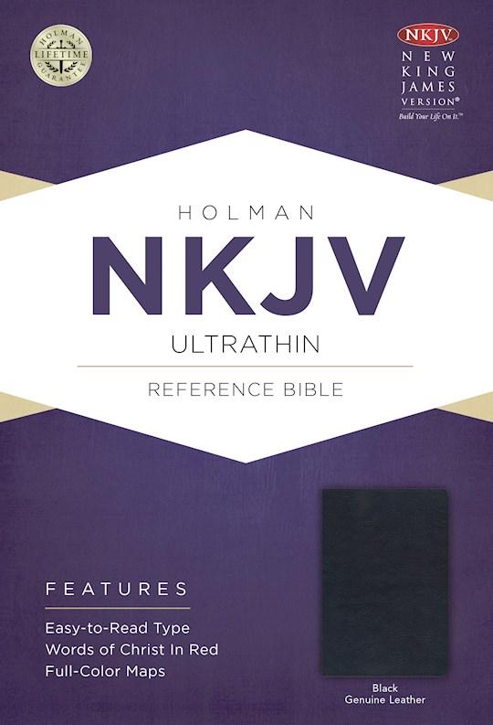 NKJV Ultrathin Reference Bible-Black Genuine Leather | SHOPtheWORD