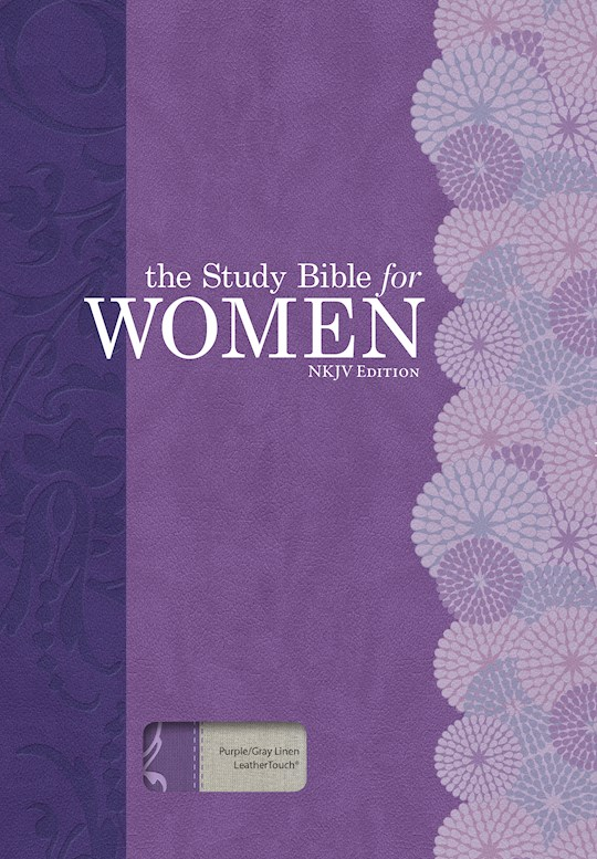NKJV Study Bible For Women-Purple/Gray Linen | SHOPtheWORD