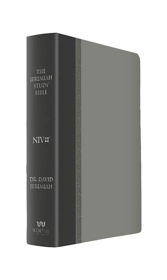 NIV Jeremiah Study Bible-Gray Leatherluxe | SHOPtheWORD
