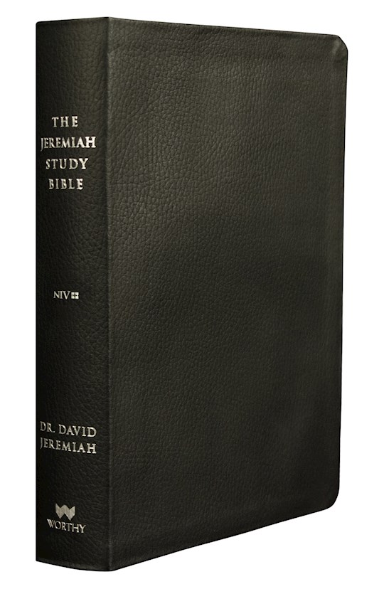 NIV Jeremiah Study Bible-Black Genuine Leather | SHOPtheWORD