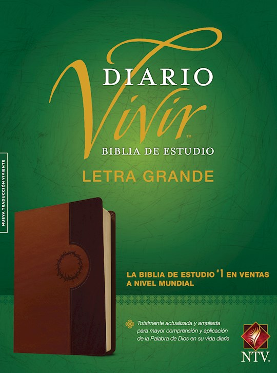 Span-NTV Life Application Study Bible/Large Print (Biblia De Estudio Del Diario Vivir)-Brown/Tan LeatherLike Indexed | SHOPtheWORD