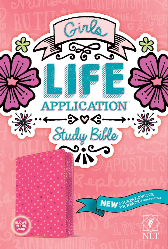 NLT Girls Life Application Study Bible-Pink Polka Dot LeatherLike | SHOPtheWORD
