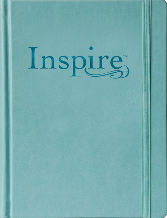 NLT Inspire Bible/Large Print-Tranquil Blue Hardcover | SHOPtheWORD