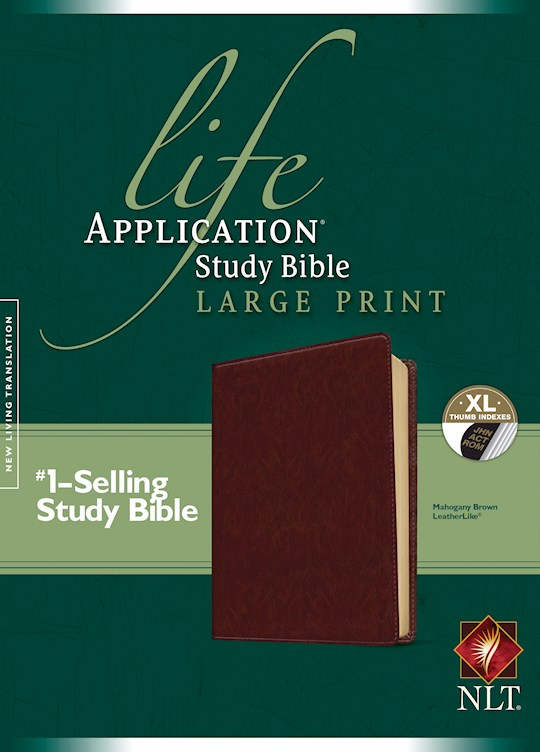 NLT Life Application Study Bible/Large Print-Brown LeatherLike Indexed | SHOPtheWORD