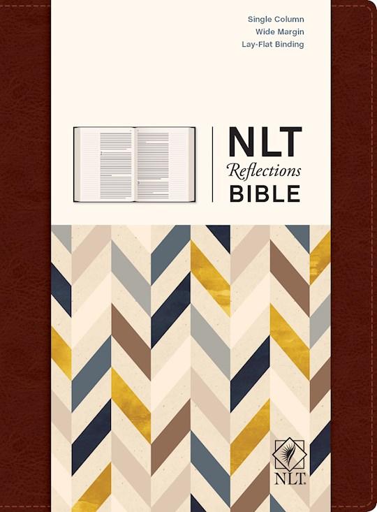 NLT Reflections Bible-Mahogany Brown-Hardcover | SHOPtheWORD