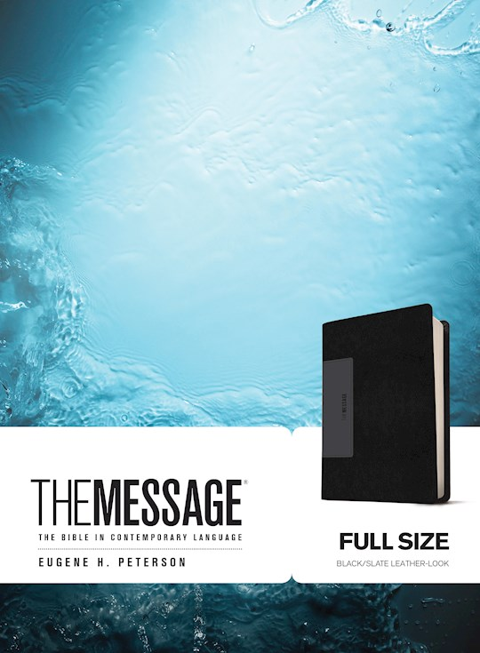 The Message Bible-Black/Slate LeatherLook | SHOPtheWORD