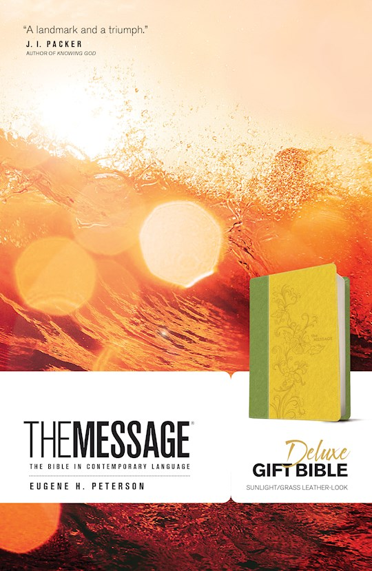 The Message Deluxe Gift Bible-Sunlight/Grass LeatherLook | SHOPtheWORD