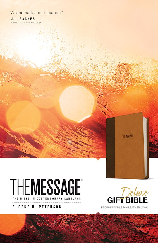 Message Deluxe Gift Bible-Brown/Saddle Tan LeatherLook | SHOPtheWORD