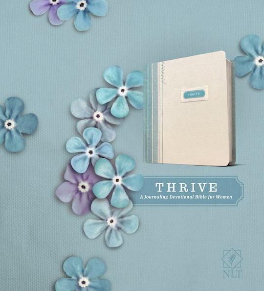 NLT Thrive Bible-Shabby Chic Blue/Cream-Hardcover | SHOPtheWORD