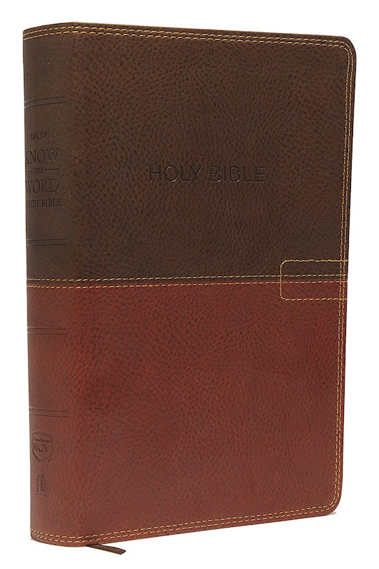 NKJV Know The Word Study Bible-Brown/Caramel Leathersoft | SHOPtheWORD