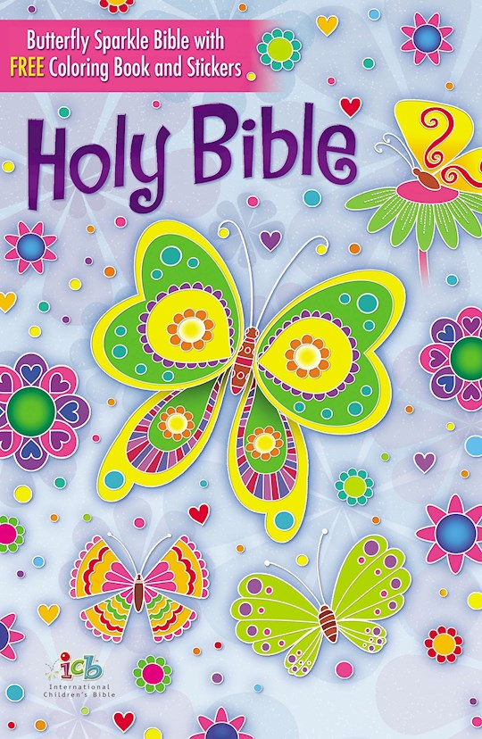 ICB Butterfly Sparkle Bible-Hardcover | SHOPtheWORD