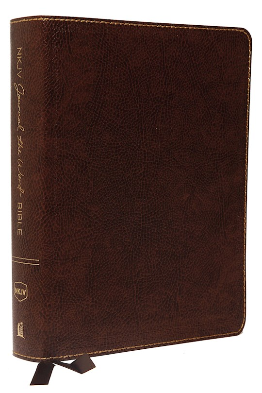 NKJV Journal The Word Bible/Large Print-Brown Bonded Leather | SHOPtheWORD
