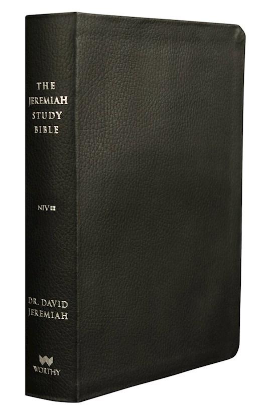 NIV Jeremiah Study Bible-Black Leatherluxe W/Burnished Edges Indexed | SHOPtheWORD