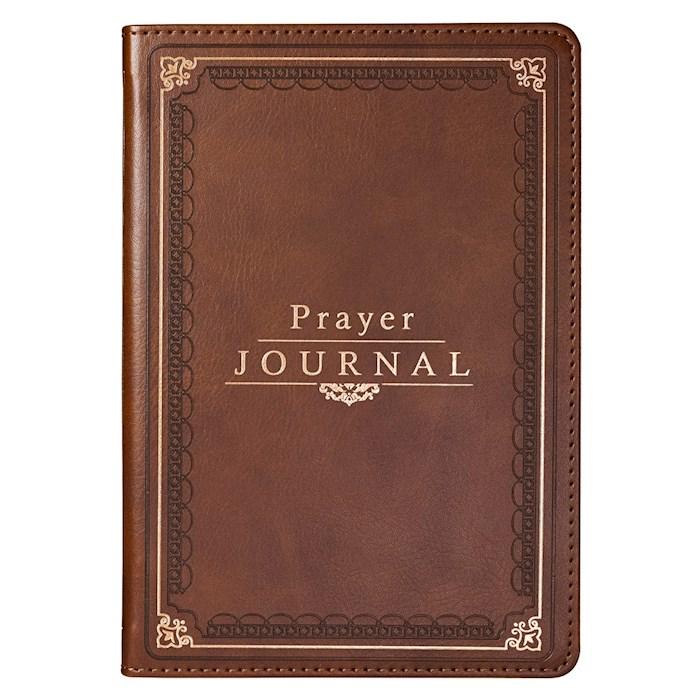 Prayer Journal w/Scripture & Classic Prayers-Brown LuxLeather by Art Gift Christian   SHOPtheWORD