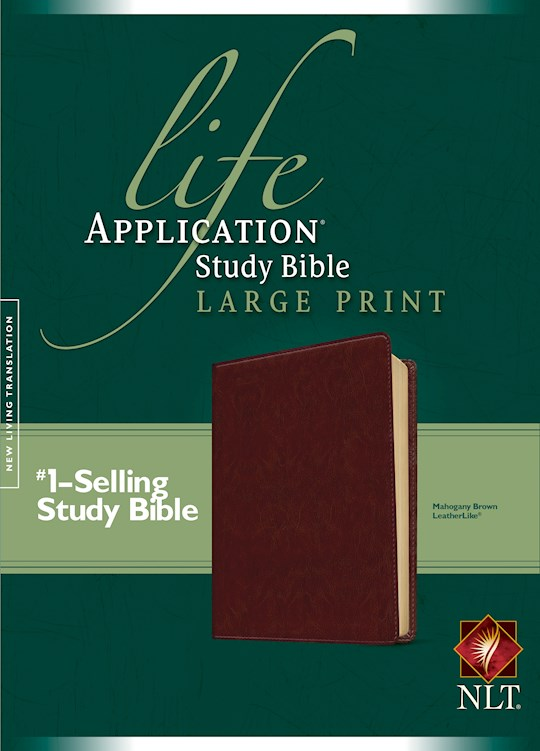 NLT Life Application Study Bible/Large Print-Brown LeatherLike | SHOPtheWORD