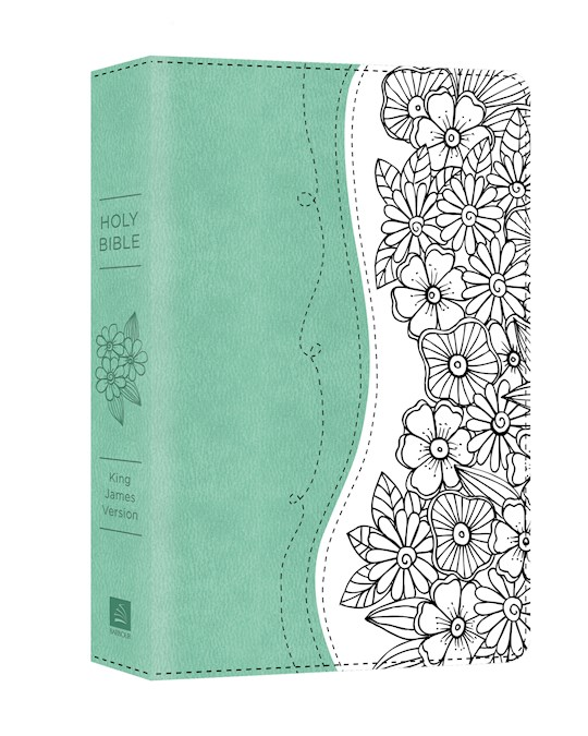 KJV Personal Reflections Bible-Turqouise/White DiCarta | SHOPtheWORD