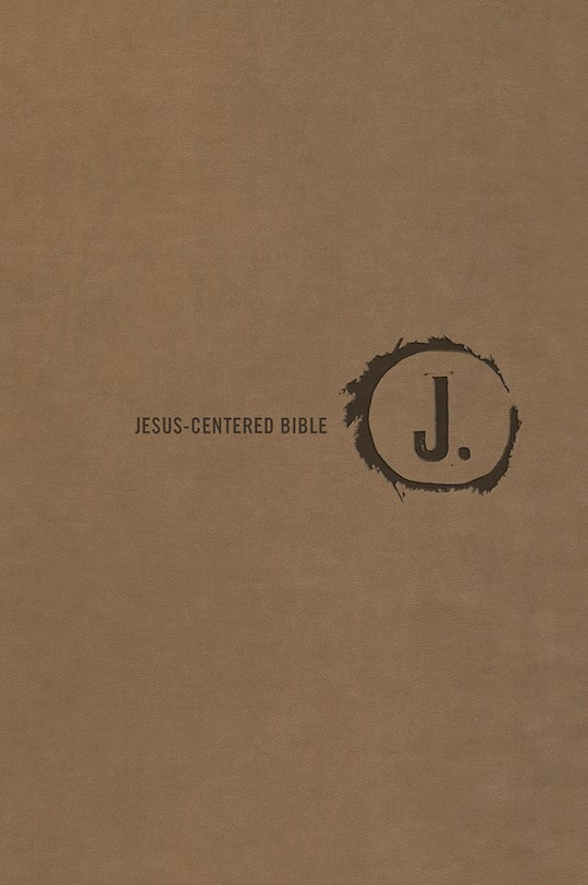 NLT Jesus-Centered Bible-Saddle Imitation Leather | SHOPtheWORD