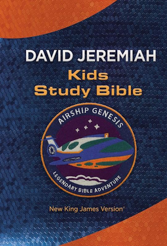 NKJV Airship Genesis Kids Study Bible (David Jeremiah)-Navy LeatherSoft | SHOPtheWORD