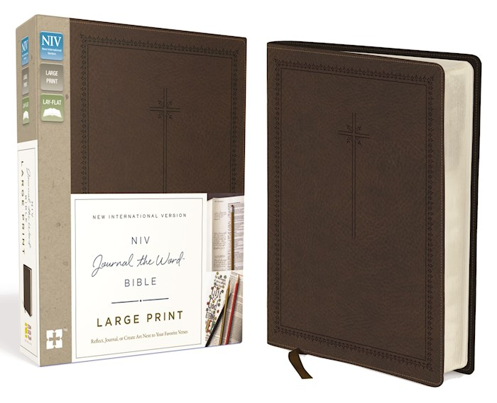 NIV Journal The Word Bible/Large Print-Brown Duo-Tone | SHOPtheWORD